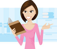 Reading a book. Illustration of girl is reading a book.EPS10 contain gradient effect vector illustration