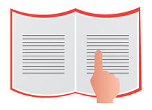 Reading Book. An illustration of reading book on white background Stock Image