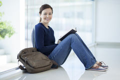 Reading a book at school Royalty Free Stock Photo
