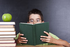Reading the book in school Royalty Free Stock Images