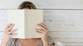 Reading a book Royalty Free Stock Image