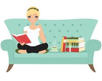 Reading book woman Royalty Free Stock Photos