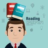 Reading books design. Illustration Royalty Free Stock Images