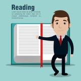 Reading books design. Illustration Stock Photography