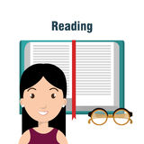 Reading books design. Illustration Stock Photo