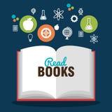 Reading books design. Illustration Royalty Free Stock Photo