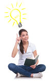Reading books gives you ideas Stock Photos