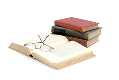 Reading Books And Glasses Stock Photography