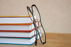 Reading. Books and Glasses Royalty Free Stock Images