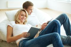 Reading books Stock Images