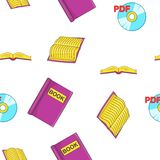 Reading books pattern, cartoon style. Reading books pattern. Cartoon illustration of reading books vector pattern for web Royalty Free Stock Image