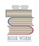 Reading books. Time for reading set of books royalty free illustration