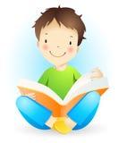 Reading boy. Royalty Free Stock Photography