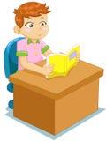 Reading boy. Cartoon the boy reading book Stock Image