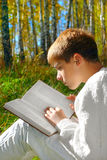 Reading boy Royalty Free Stock Images