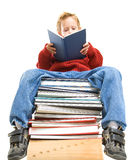 Reading boy Royalty Free Stock Photo