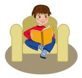 Reading boy. Stock Photo