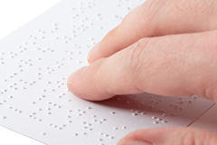 Reading braille Stock Photography