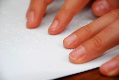 Reading Braille Stock Image