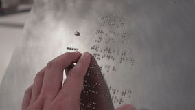 Reading Braille stock video