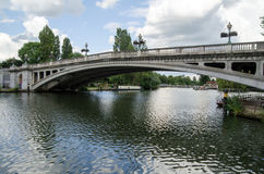 Reading Bridge. View of Reading bridge spanning the River Thames in the heart of the Berkshire town Royalty Free Stock Photos