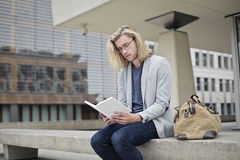 Reading broaden your mind Stock Image