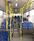 Reading on the bus Royalty Free Stock Images