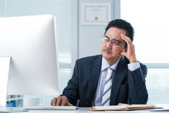 Reading businessman Royalty Free Stock Images