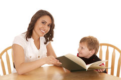 Reading child book Royalty Free Stock Photos