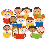 Reading children Stock Images