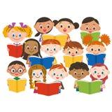 Reading children stock images