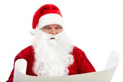Reading Christmas letter Royalty Free Stock Images