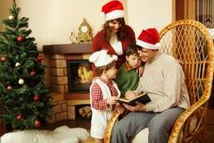 Reading Christmas tales Royalty Free Stock Photo