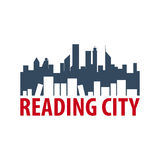 Reading city Book Store Logo. Education and book emblem. Vector illustration. Stock Image