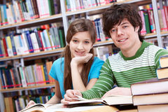 Reading classmates Royalty Free Stock Photography