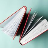 Reading club. Top view of books. Success learning Square royalty free stock photo
