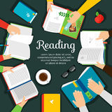 Reading club vector illustration Royalty Free Stock Photo