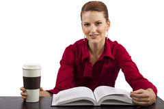 Reading with Coffee Royalty Free Stock Photo