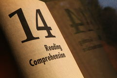 Reading comprehension royalty free stock image