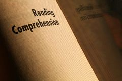 Reading comprehension Stock Photography
