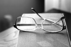 Reading concept books and glasses Royalty Free Stock Photo