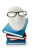 Reading concept with masks, books. And  glasses Stock Photo