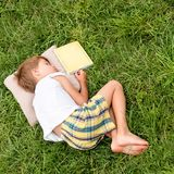 Alternative education. Back to school. Summer time with book. royalty free stock photos