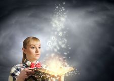 Reading concept Royalty Free Stock Photography