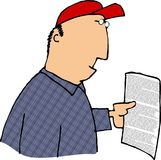 Reading a contract Stock Images
