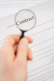 Reading Contract Carefully Royalty Free Stock Images