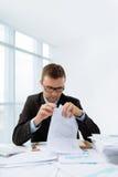 Reading contract Stock Photo