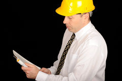Reading contractor Royalty Free Stock Photos