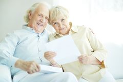 Reading correspondence Stock Photos