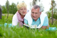 Reading in the country Stock Photography